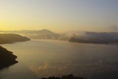 восходы солнца озера Стоковое Фото