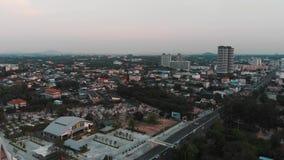 Восходящая воздушная съемка города видеоматериал
