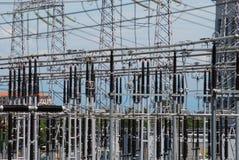 восходящий поток теплого воздуха электростанции детали угля Стоковое фото RF