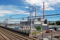 восходящий поток теплого воздуха электростанции угля Стоковое Изображение RF