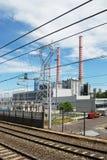 восходящий поток теплого воздуха электростанции угля Стоковая Фотография RF
