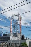 восходящий поток теплого воздуха электростанции угля Стоковые Изображения