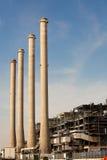 восходящий поток теплого воздуха электростанции Стоковые Изображения