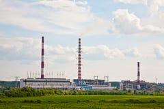 восходящий поток теплого воздуха электростанции Стоковое Изображение