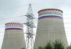 восходящий поток теплого воздуха электростанции Стоковые Изображения RF