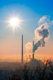 восходящий поток теплого воздуха электростанции Стоковые Фотографии RF
