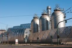 восходящий поток теплого воздуха электростанции Стоковое Фото