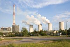 восходящий поток теплого воздуха электростанции Стоковые Фото