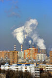 восходящий поток теплого воздуха электростанции Стоковая Фотография
