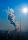 восходящий поток теплого воздуха электростанции counterligt Стоковые Фотографии RF