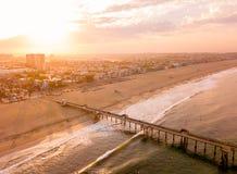 Восход солнца антенны Лос-Анджелеса стоковые изображения rf