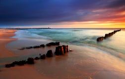 восход солнца Балтийского моря стоковое фото
