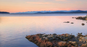 восход солнца Британского Колумбии осени стоковое фото rf
