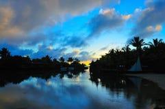 восход солнца бухточки Стоковое фото RF