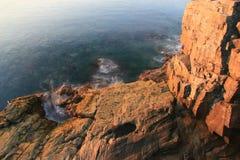 восход солнца выдры скал Стоковые Фотографии RF
