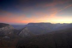 восход солнца высоких гор Стоковые Фото