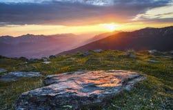 Восход солнца в австрийском альп Стоковое Фото