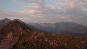 Восход солнца в австрийском альп видеоматериал