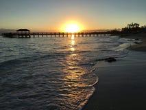 Восход солнца в Багамских островах стоковые изображения rf