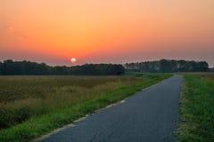 Восход солнца в долине Италии Po Стоковые Изображения RF