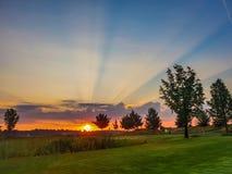 восход солнца в затишье утра стоковое фото