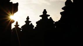 Восход солнца в Borobudur стоковые изображения