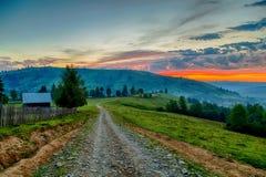 Восход солнца в Bucovina стоковая фотография rf