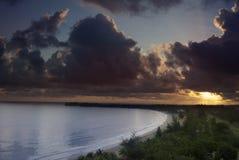 Восход солнца в Isla Verde Стоковое фото RF