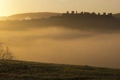 Восход солнца в Monteriggioni Стоковая Фотография RF