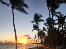 Восход солнца в Punta Cana стоковые изображения rf