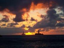 восход солнца в Santa Cruz de Тенерифе - Канарских островах стоковая фотография rf