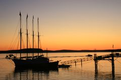 восход солнца гавани 2 штанг Стоковые Изображения RF