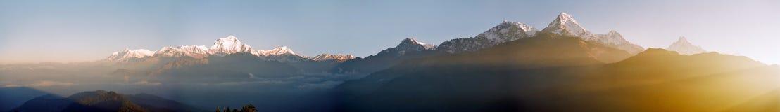 восход солнца Гималаев Непала Стоковое Изображение
