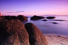 восход солнца голубых небес пляжа Стоковые Изображения