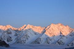 восход солнца гористых местностей Стоковые Изображения