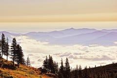 восход солнца горы ландшафта Стоковое Изображение RF