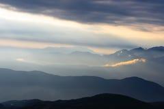 восход солнца горы ландшафта Стоковое Изображение