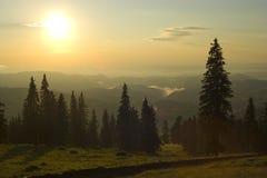 восход солнца горы стоковые фото