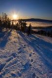 восход солнца гор Стоковые Изображения