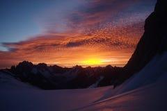 восход солнца гор Стоковая Фотография RF