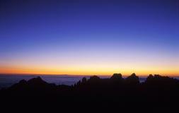 восход солнца держателя 2 huangshan Стоковые Изображения