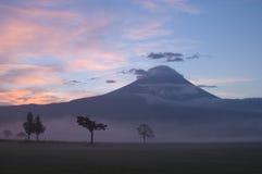 восход солнца держателя fuji Стоковые Фото