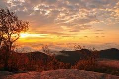 Восход солнца долины Стоковая Фотография RF