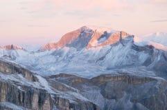 восход солнца доломитов Стоковые Изображения RF