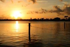 восход солнца залива Стоковое Изображение RF