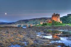 восход солнца замока donan eilan Стоковое Фото