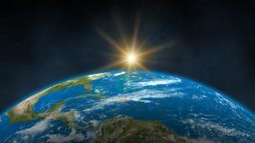 Восход солнца земли сток-видео