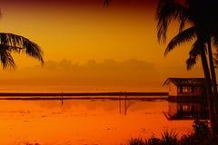 восход солнца золота Стоковые Изображения RF