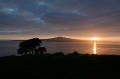 Восход солнца и вулкан Стоковое Изображение