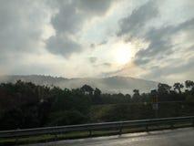 Восход солнца и заход солнца стоковые изображения rf